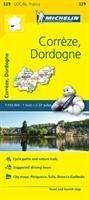 Correze, Dordogne - Michelin Local Map 329 -