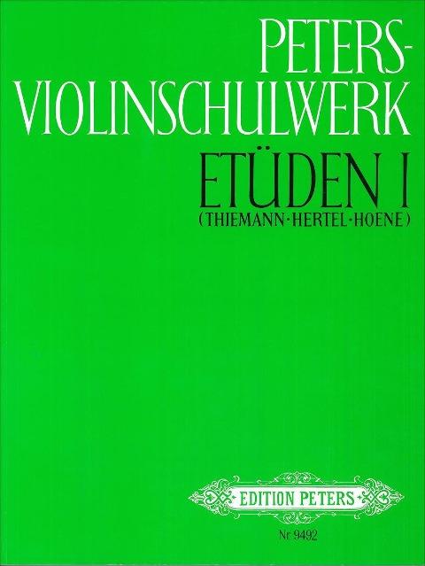 Peters-Violinschulwerk: Etüden, Band 1 -