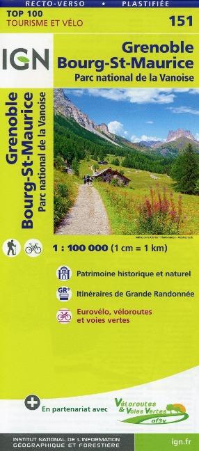 Grenoble Bourg-Saint-Maurice 1:100 000 -