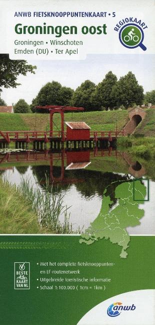 Groningen oost (Groningen / Winschoten / Emden (DU) / Ter Apel) 1:100 000 -