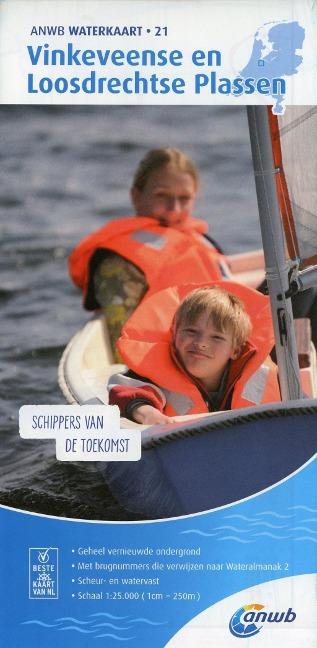 Vinkeveense en Loosdrechtse Plassen 1:10 000 Waterkaart -