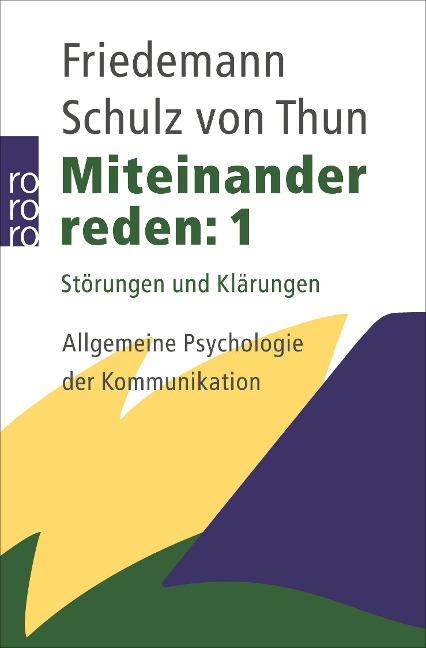 Miteinander reden 1 - Friedemann Schulz von Thun