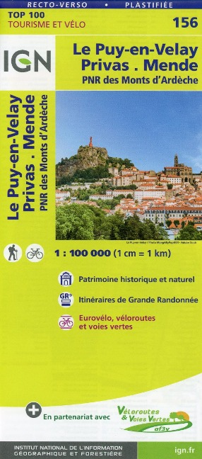Le Puy-en-Velay.Privas.Mende 1:100 000 -