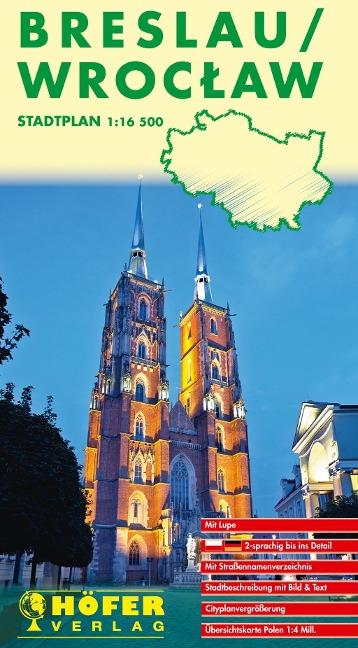 Höfer Polen SP015. Breslau / Wroclaw 1 : 16 500. Stadtplan -