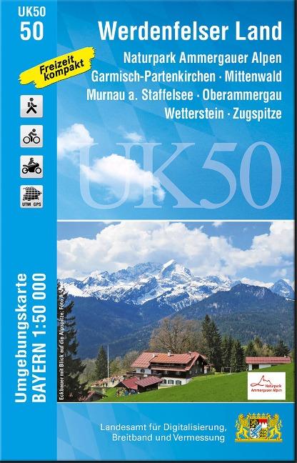 Werdenfelser Land 1 : 50 000 Umgebungskarte (UK50-50)