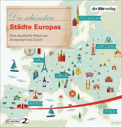 Die schönsten Städte Europas - Florian Schairer, Vera Wollen, Manfred Schuchmann