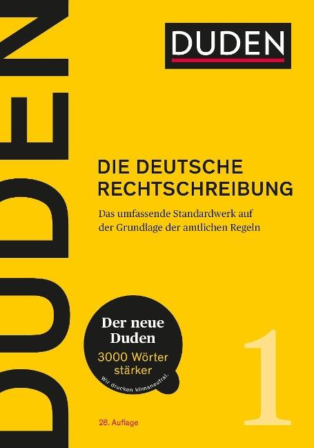 Duden - Die deutsche Rechtschreibung -
