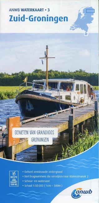 Zuid-Groningen 1:50 000 Waterkaart -