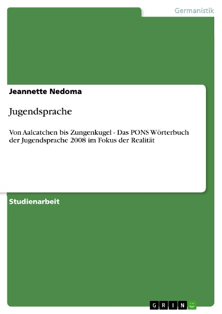 Jugendsprache - Jeannette Nedoma