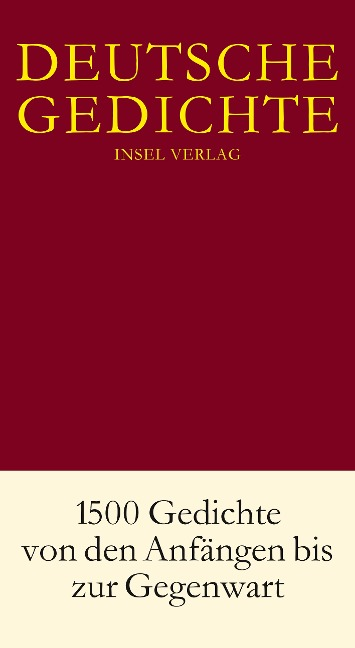 Deutsche Gedichte in einem Band -