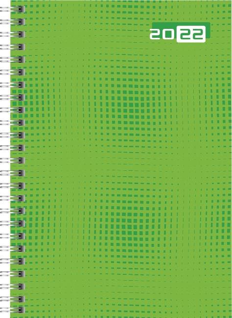 rido/idé 7018504032 Wochenkalender/Buchkalender 2022 Modell futura 2, Grafik-Einband, grün -