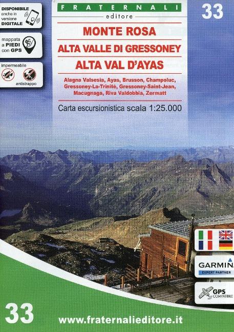 Monte Rosa, Alta Valle di Gressoney 1:33 222 -
