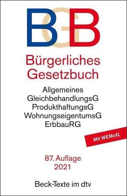 Bürgerliches Gesetzbuch - BGB -