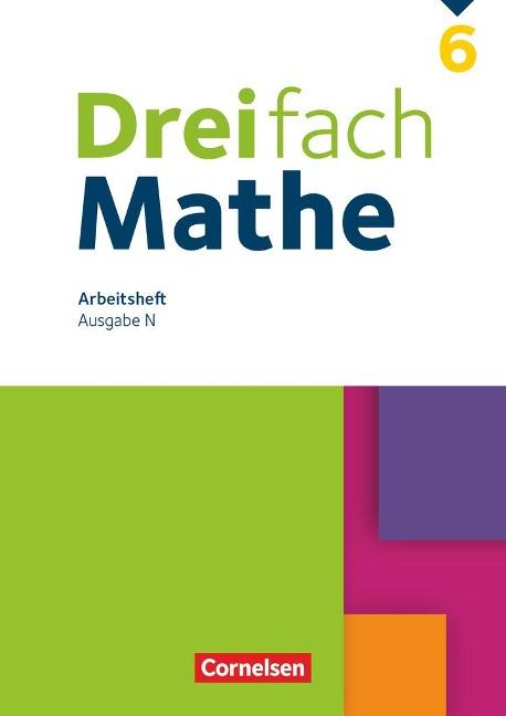 Dreifach Mathe 6. Schuljahr. Niedersachsen - Arbeitsheft mit Lösungen -
