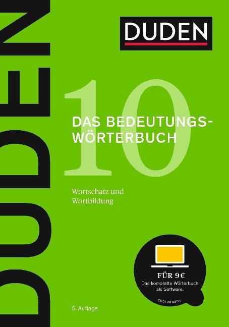 Duden - Bedeutungswörterbuch -