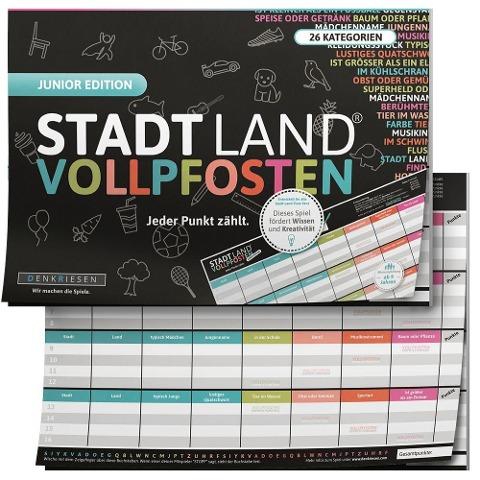STADT LAND VOLLPFOSTEN® - JUNIOR EDITION - Für Kinder und Jugendliche - Ricardo Barreto, Denis Görz