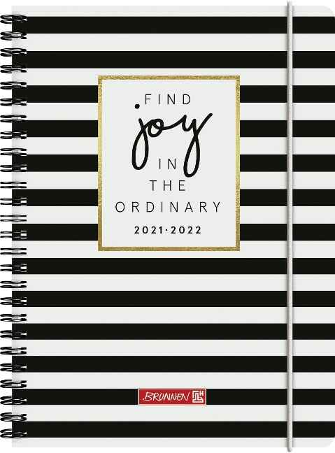 """BRUNNEN 1072155172 Wochenkalender/Schülerkalender 2021/2022 """"Stripes"""""" -"