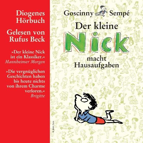Der kleine Nick macht Hausaufgaben - René Goscinny, Jean-Jacques Sempé
