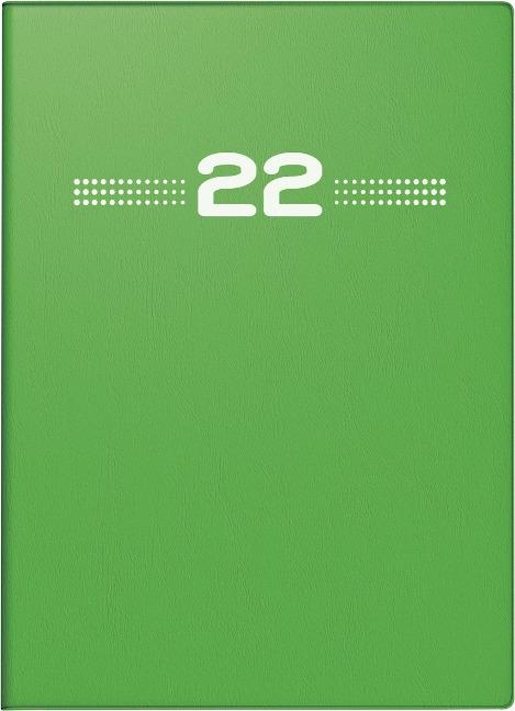 rido/idé 7013202012 Wochenkalender/Taschenkalender 2022 Modell perfect/Technik I, Kunststoff-Einband, grün -