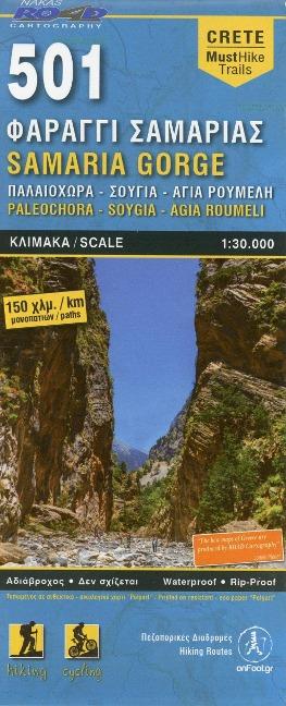 Crete 501 Samaria Gorge (Paleochora-Soygia-Agia Roumeli) 1:30000 -