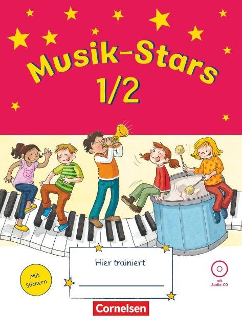 Musik-Stars - Grundwissen 1./2. Schuljahr - Übungsheft mit Lösungen und Audio-CD - Solveig Wezel