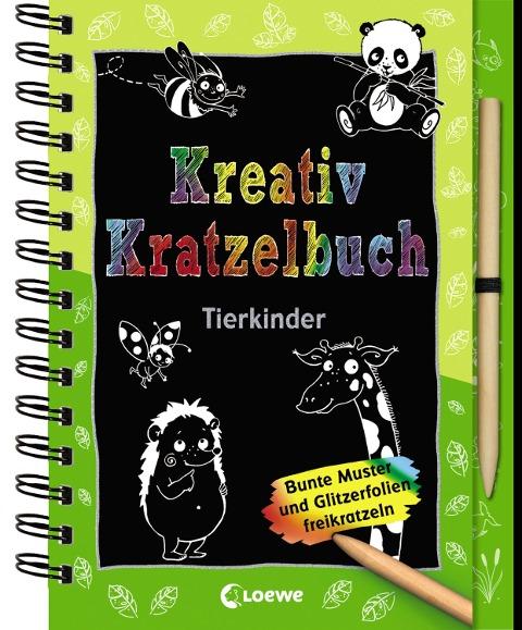 Kreativ-Kratzelbuch: Tierkinder -