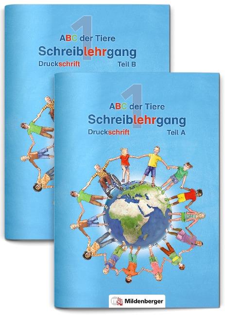 ABC der Tiere 1 - Schreiblehrgang Druckschrift, Teil A und B. Neubearbeitung -