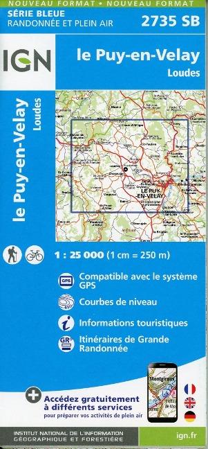 le Puy-en-Velay-Loudes 1:25 000 -