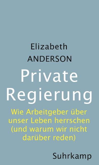 Private Regierung - Elizabeth Anderson