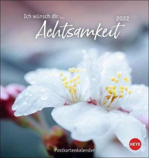 Ich wünsch dir ... Achtsamkeit Postkartenkalender 2022 -