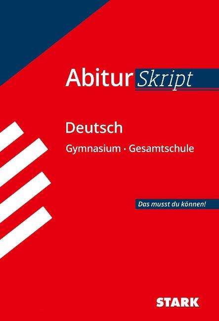 Abiturskript Deutsch - Fritz Schäffer