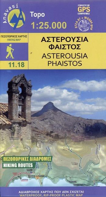Asterousia - Phaistos Wanderkarte Blatt 11.18 1 : 25 000 -