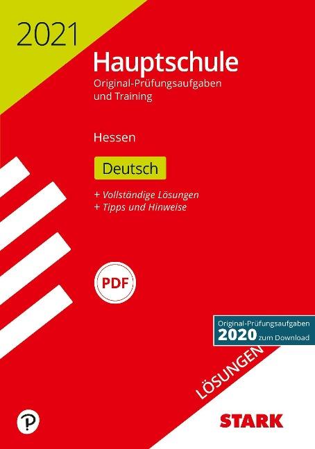 STARK Lösungen zu Original-Prüfungen und Training Hauptschule 2021 - Deutsch - Hessen -
