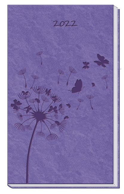 Taschenterminer Soft Touch Violett 2022 mit Leseband -