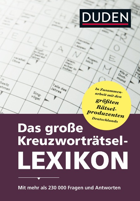 Das große Kreuzworträtsel-Lexikon -