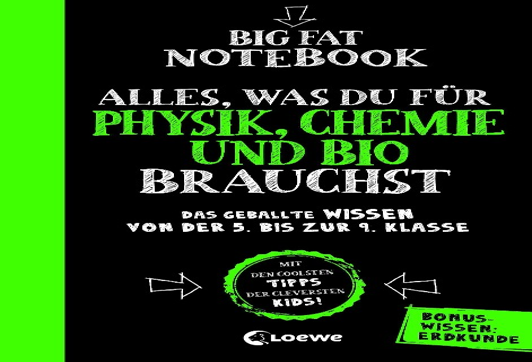 Big Fat Notebook - Alles, was du für Physik, Chemie und Bio brauchst - Das geballte Wissen von der 5. bis zur 9. Klasse. Mit Bonuswissen: Erdkunde -