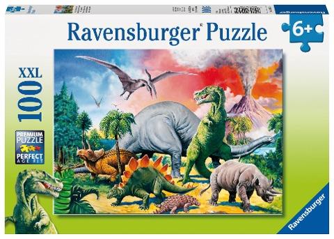 Unter Dinosauriern. Puzzle 100 Teile XXL -