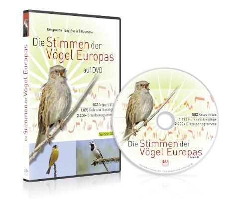 Die Stimmen der Vögel Europas auf DVD - Hans-Heiner Bergmann, Wiltraud Engländer, Sabine Baumann