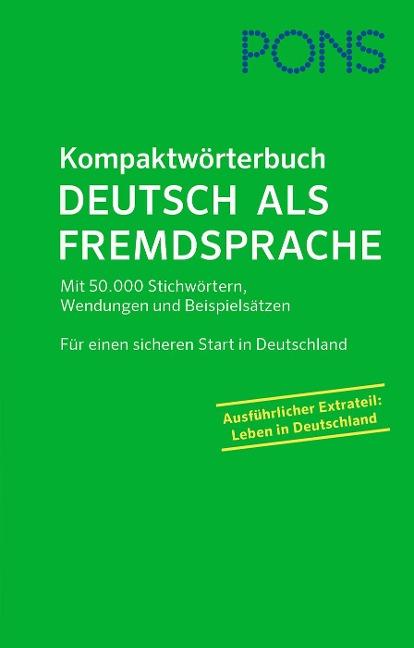 PONS Kompaktwörterbuch Deutsch als Fremdsprache -