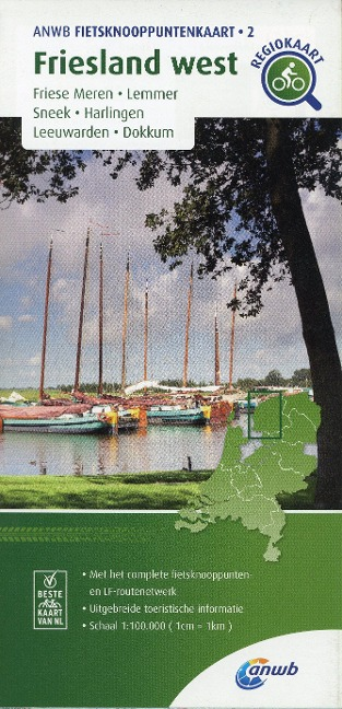 Friesland west (Friese Meren / Lemmer / Sneek / Harlingen / Leeuwarden / Dokkum) 1 : 100 000 -