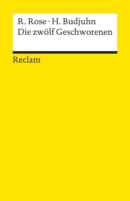 Die zwölf Geschworenen - Reginald Rose