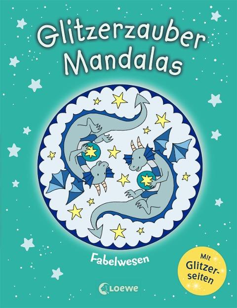 Glitzerzauber-Mandalas - Fabelwesen -