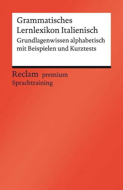 Grammatisches Lernlexikon Italienisch - Valerio Vial
