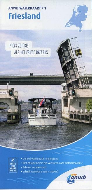 Friesland 1:50 000 Waterkaart -