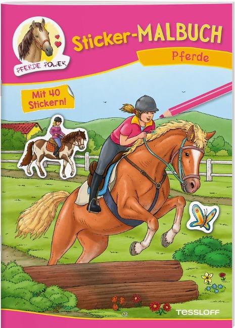 Sticker-Malbuch Pferde -