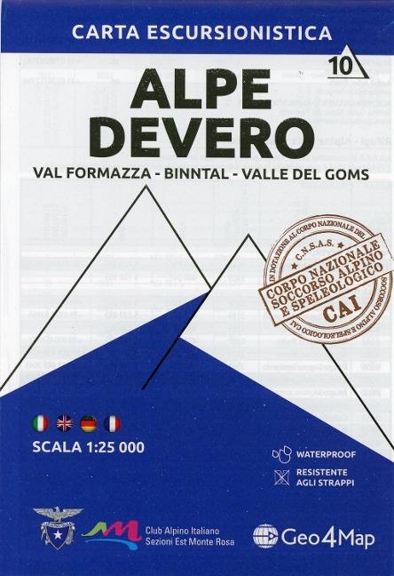 Wanderkarte Alpe Devero / Val Formazza-Binntal-Valle del Goms 1:25.000 -