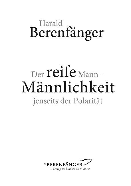 Der reife Mann - Harald Berenfänger