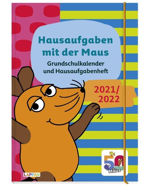 Grundschulkalender und Hausaufgabenheft mit der Maus 21/22 -
