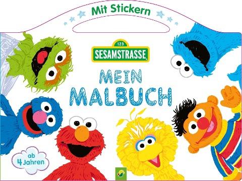 Sesamstraße Mein Malbuch mit Stickern -