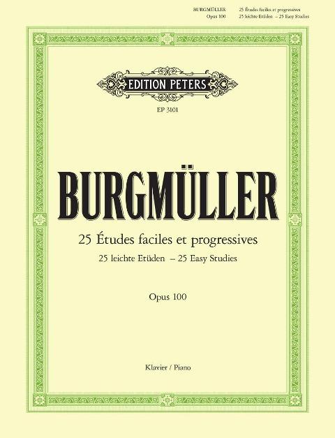 25 leichte Etüden op. 100 - Friedrich Burgmüller